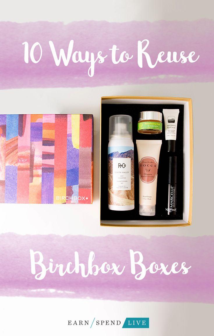 10 Ways To Reuse Birchbox Boxes Birchbox Boxes Birchbox Upcycle Birchbox Diy
