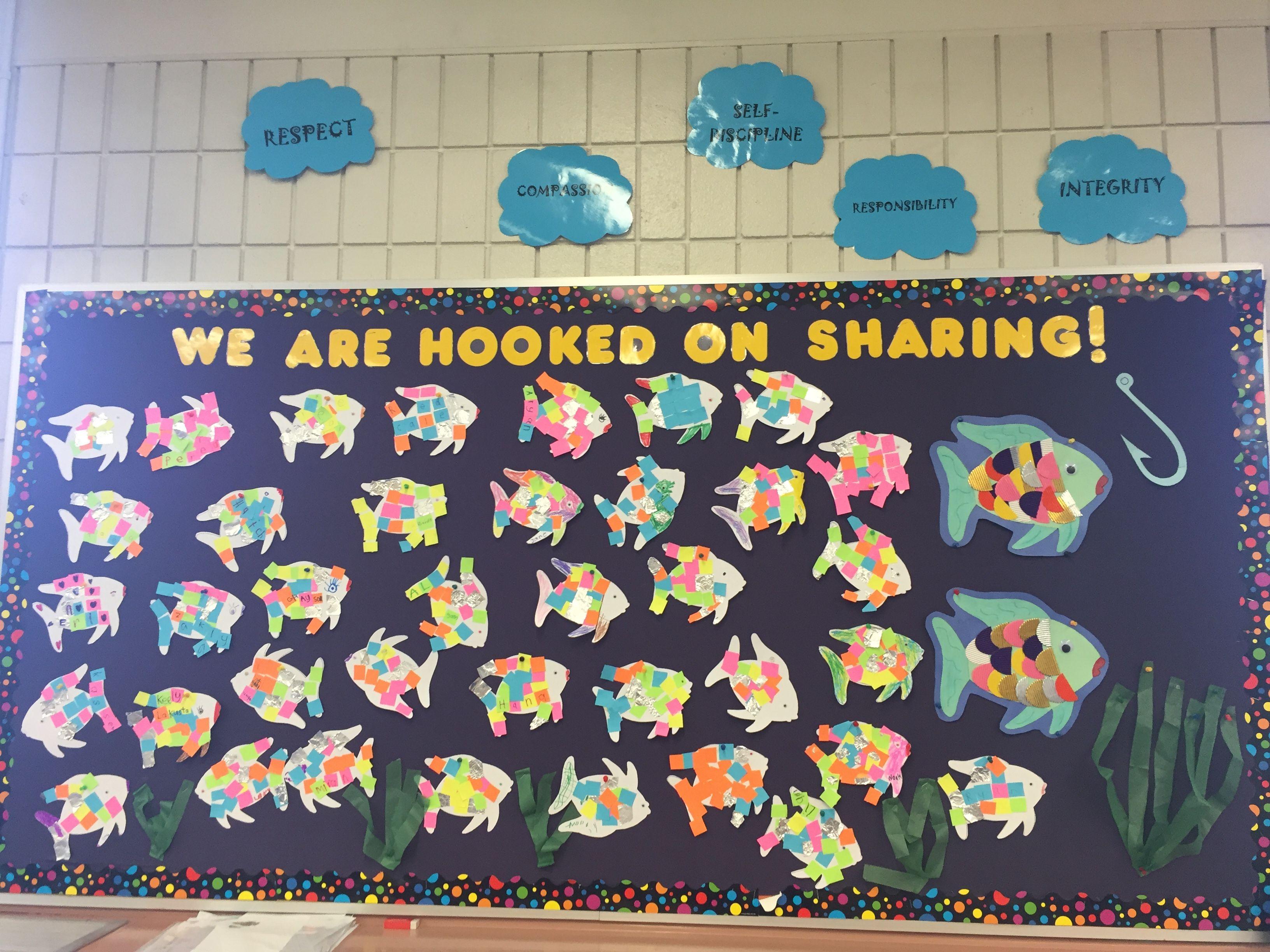 Rainbow Fish Bulletin Board Kindergarten