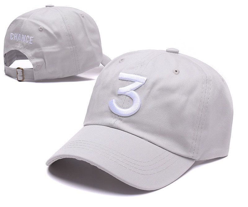 42f2af8fbd4 Men s   Women s Chance The Rapper Chance 3 Baseball Adjustable Hip Hop Hat  - Grey   White