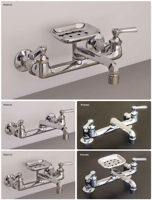 Wall Mount Faucet For A Kitchen Sink Handsome Design From Strom With Images Farmhouse Faucet Wall Mount Faucet Kitchen Sink Faucets Vintage