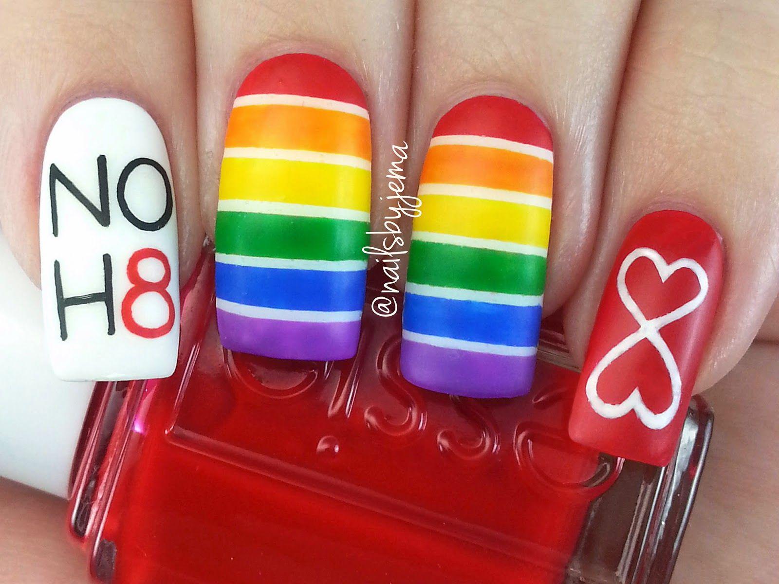 gay pride nail polish - Google Search | Nail art | Pinterest ...