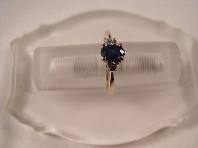 14 Karat Yellow Gold Oval Sapphire & Diamond Cocktail Ring Jewelry