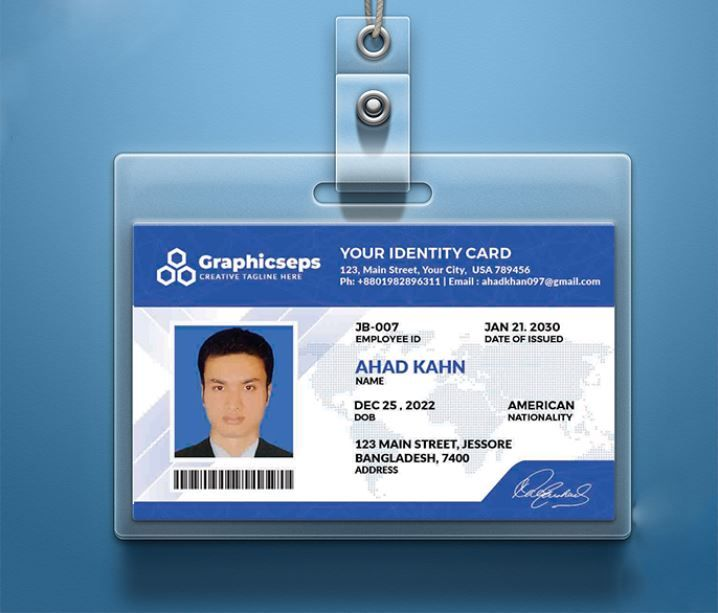 Free ID Card Template PSD Download