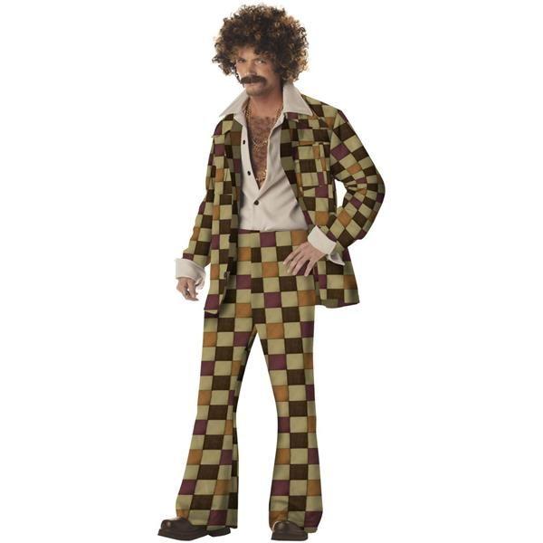 Adults Retro 60s 70s Disco Hippie Couple Costume Sleazeball Suit Diva Cosplay