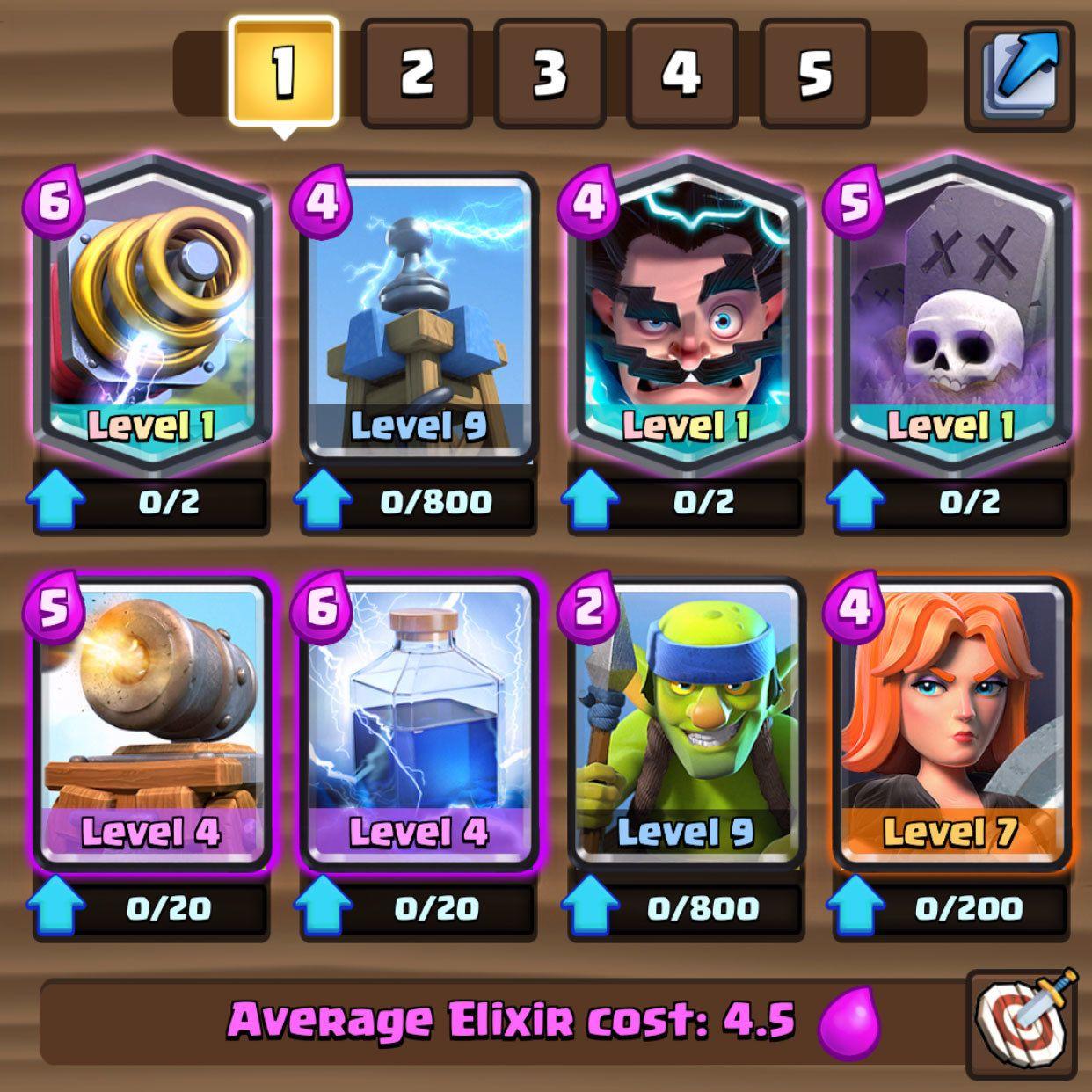 Balance update live 109 clash royale pvp cards