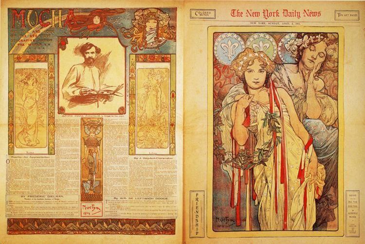 The+New+York+Daily+News,+1904+-+Alphonse+Mucha
