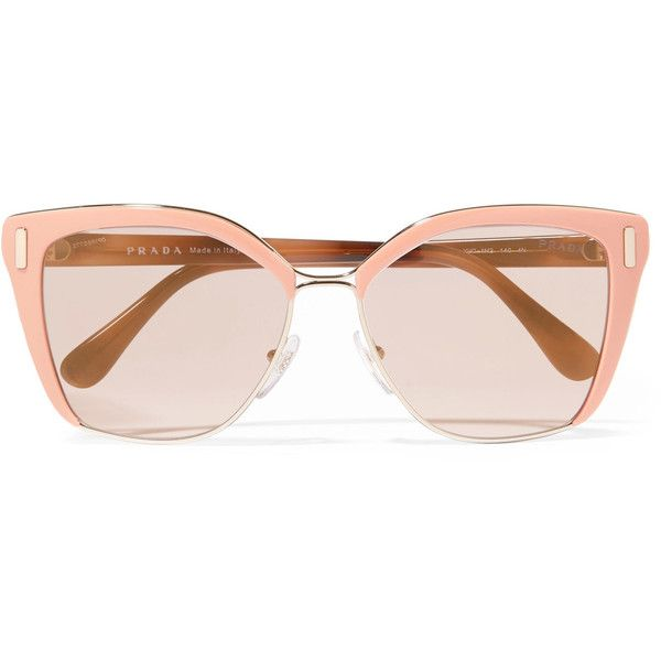 3965fb26c4faa Prada Square-frame acetate and gold-tone sunglasses ( 340) ❤ liked on Polyvore  featuring accessories