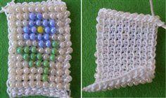 Tunisian crochet with beads.   ☀CQ #crochet #crafts #DIY