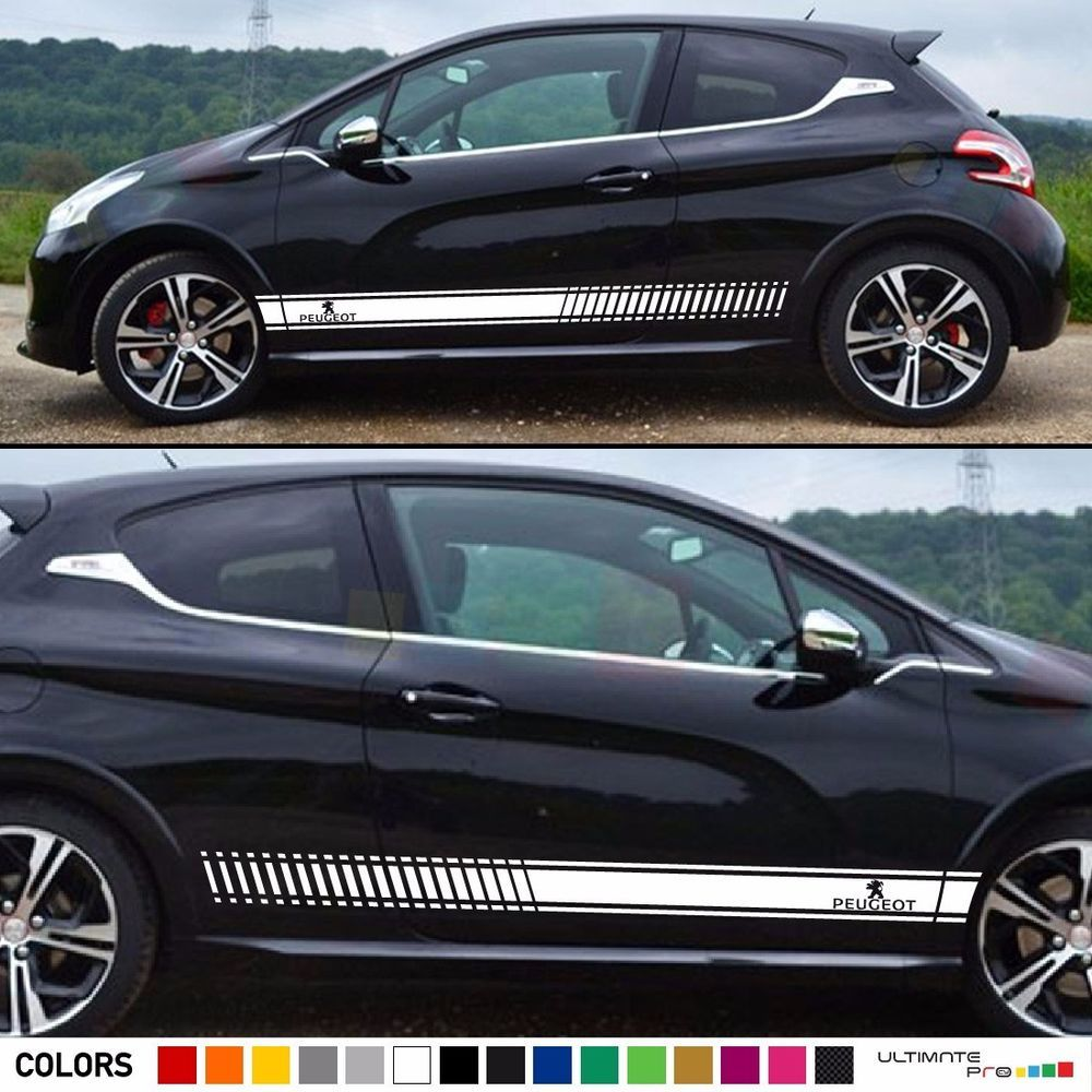Decal Sticker Vinyl Stripe Kit For Peugeot 208 Rc Gti Lip Hood Fender Flare Part Ultimateprocy1 Stripe Kit Peugeot Fender Flares