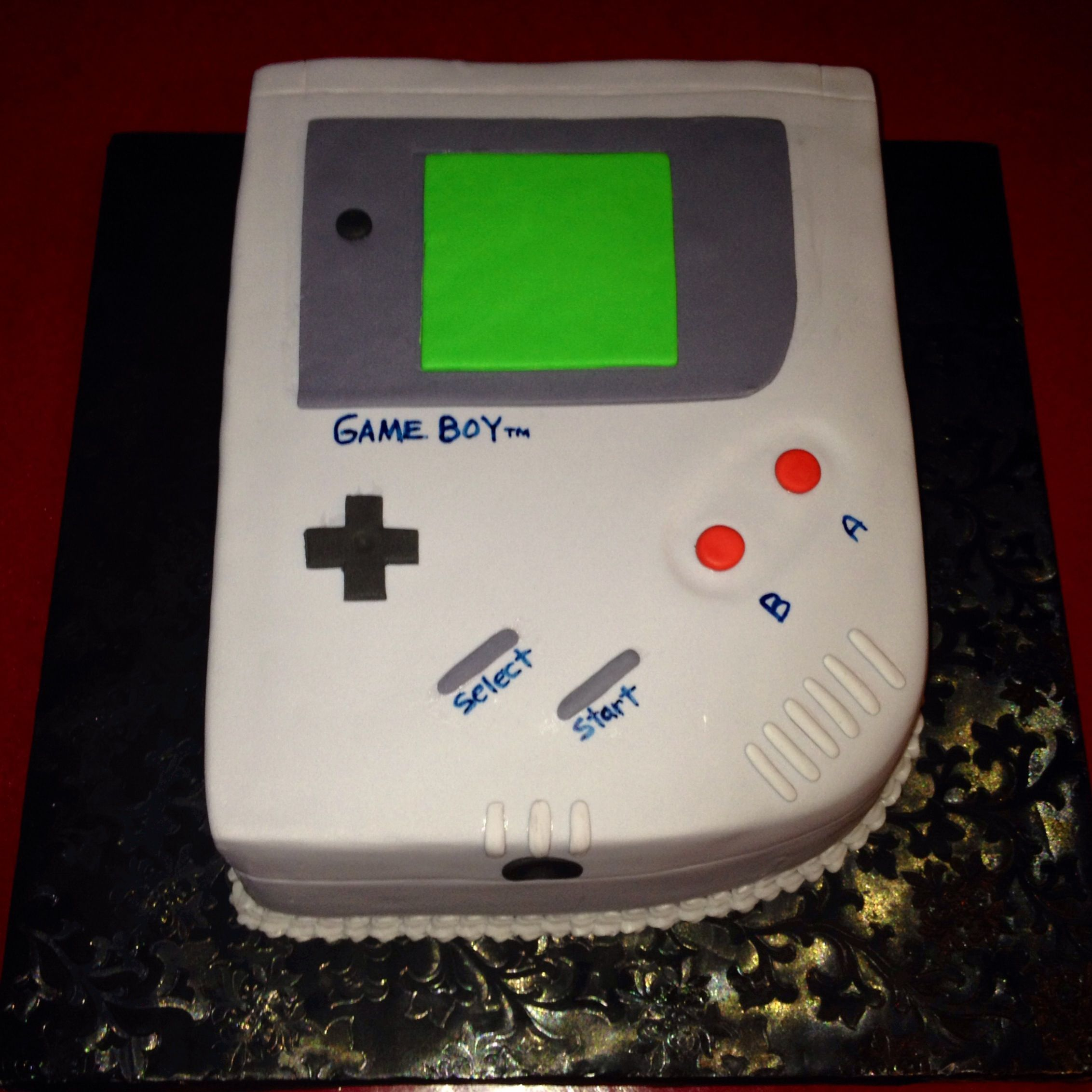 Miraculous Made This Game Boy Birthday Cake All Fondant With Images Birthday Cards Printable Trancafe Filternl
