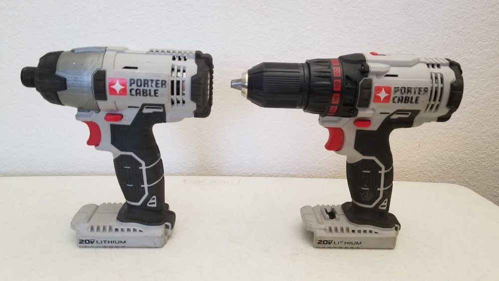 59 95 Used Porter Cable Pcc641 Impact Driver Pcc601 Drill Driver 20v Bare Tools Portercable Drill Driver Impact Driver Porter Cable