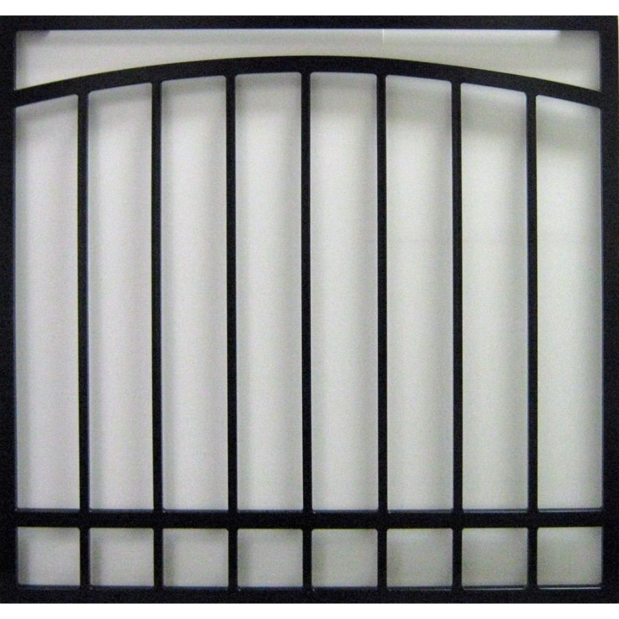 Decorative Security Grilles For Windows Shop Gatehouse 36 In Black Arched Window Security Bar At Lowescom