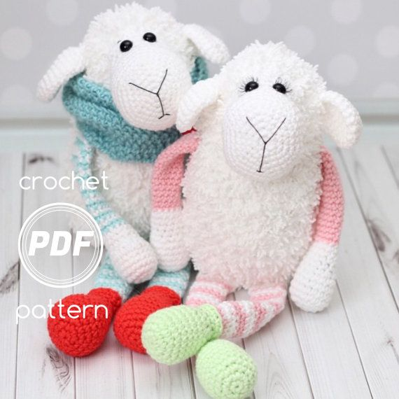 Cloud the Lamb and Cloudy the Sheep PDF Crochet pattern | Crochet ...