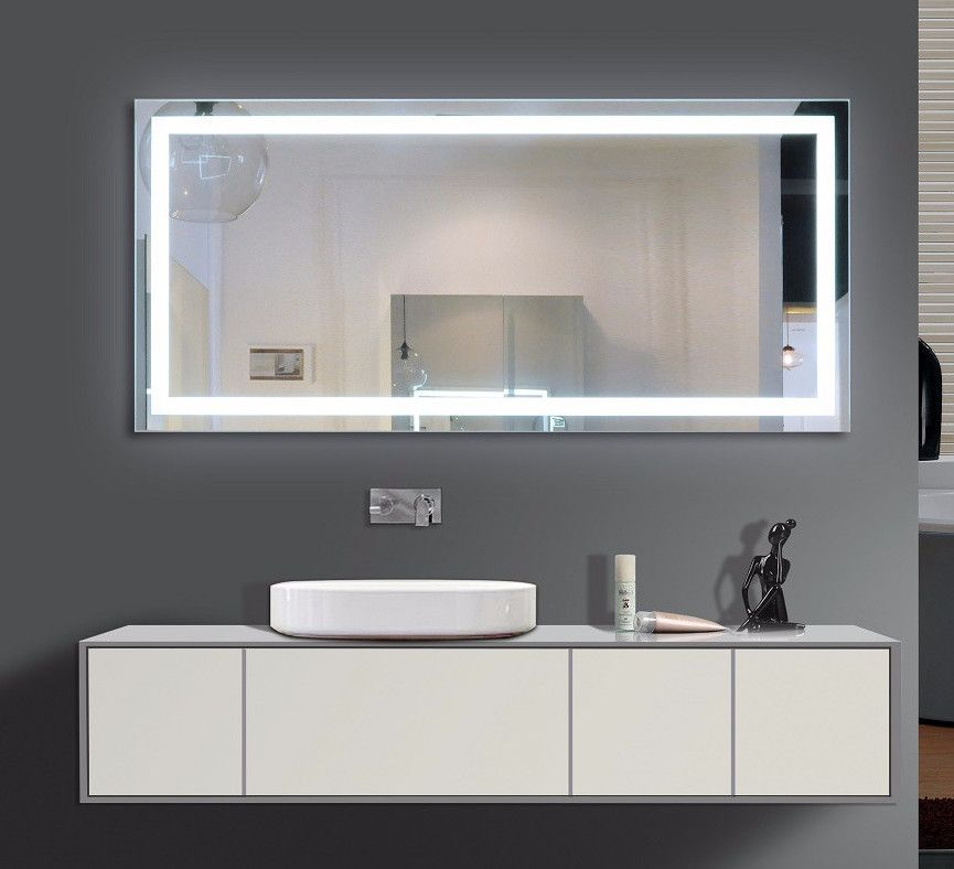 Lighted Mirror With Sensor Switch And Demister Pad Size