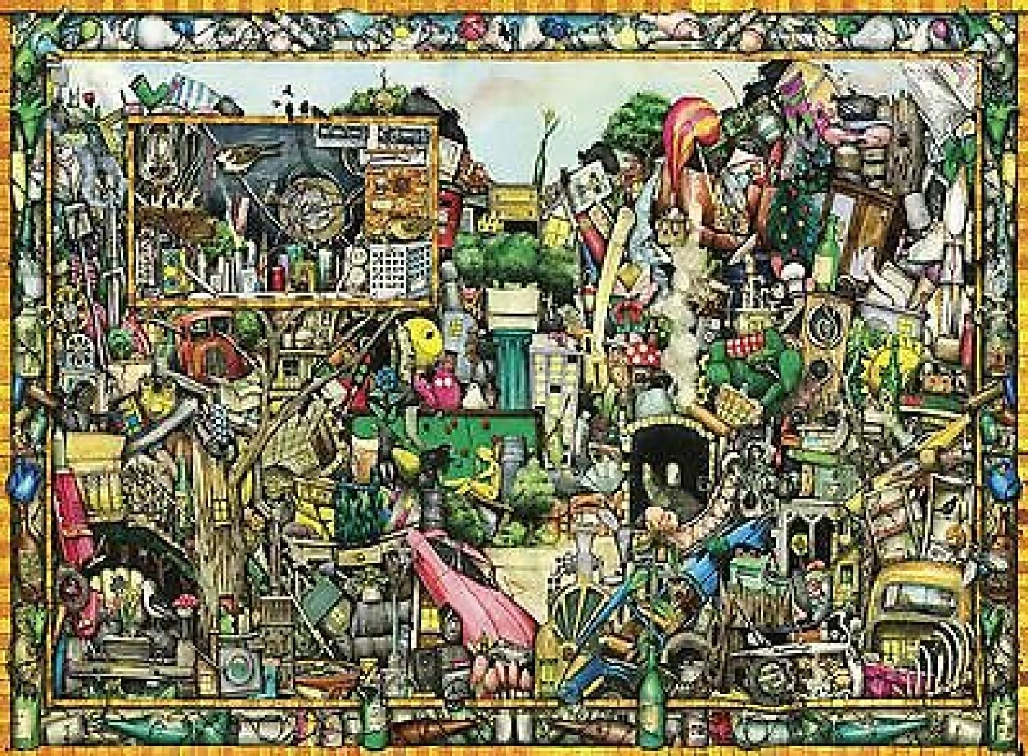 Jigsaw Colin Thompson Town 5000pc Puzzle Ravensburger Ebay Fine Arts Posters Art Greyscale Coloring Books