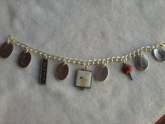 Charm BraceletAsian Theme by DivineDesigns09 on Etsy, $12.00
