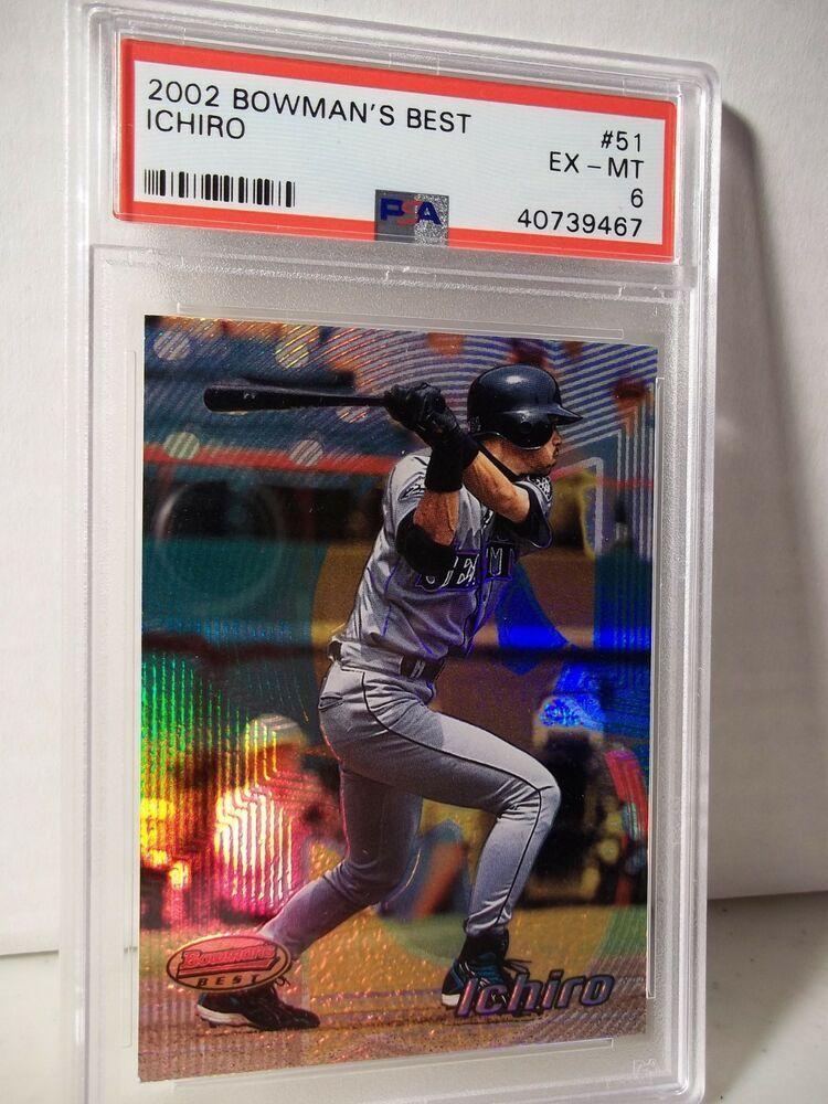 2002 Bowman Best Ichiro Suzuki PSA EXMT 6 Baseball Card