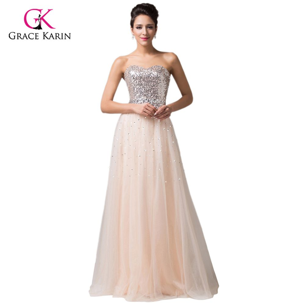 Free shipping buy best grace karin aline floorlength sequins and