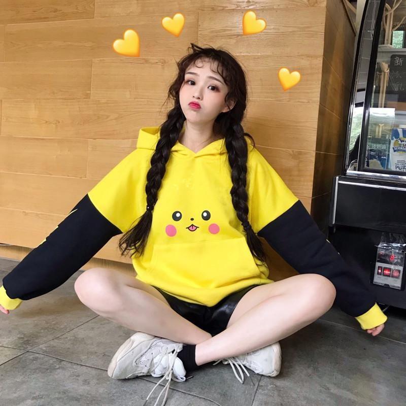 Cute japanese pikachu long ear sweater yv40843 youvimi