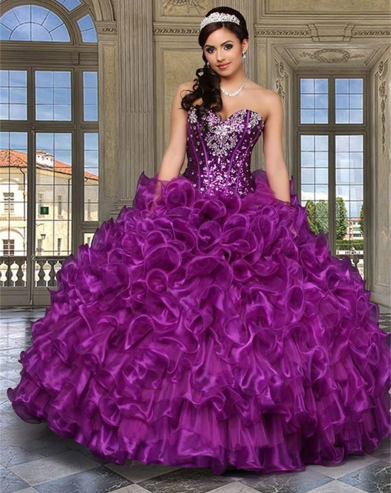 Find More Quinceanera Dresses Information about 2016 Purple Cheap ...