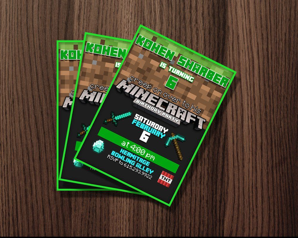 http://thepodomoro.com/collections/birthday-invitation/products/minecraft-birthday-invitation-edition