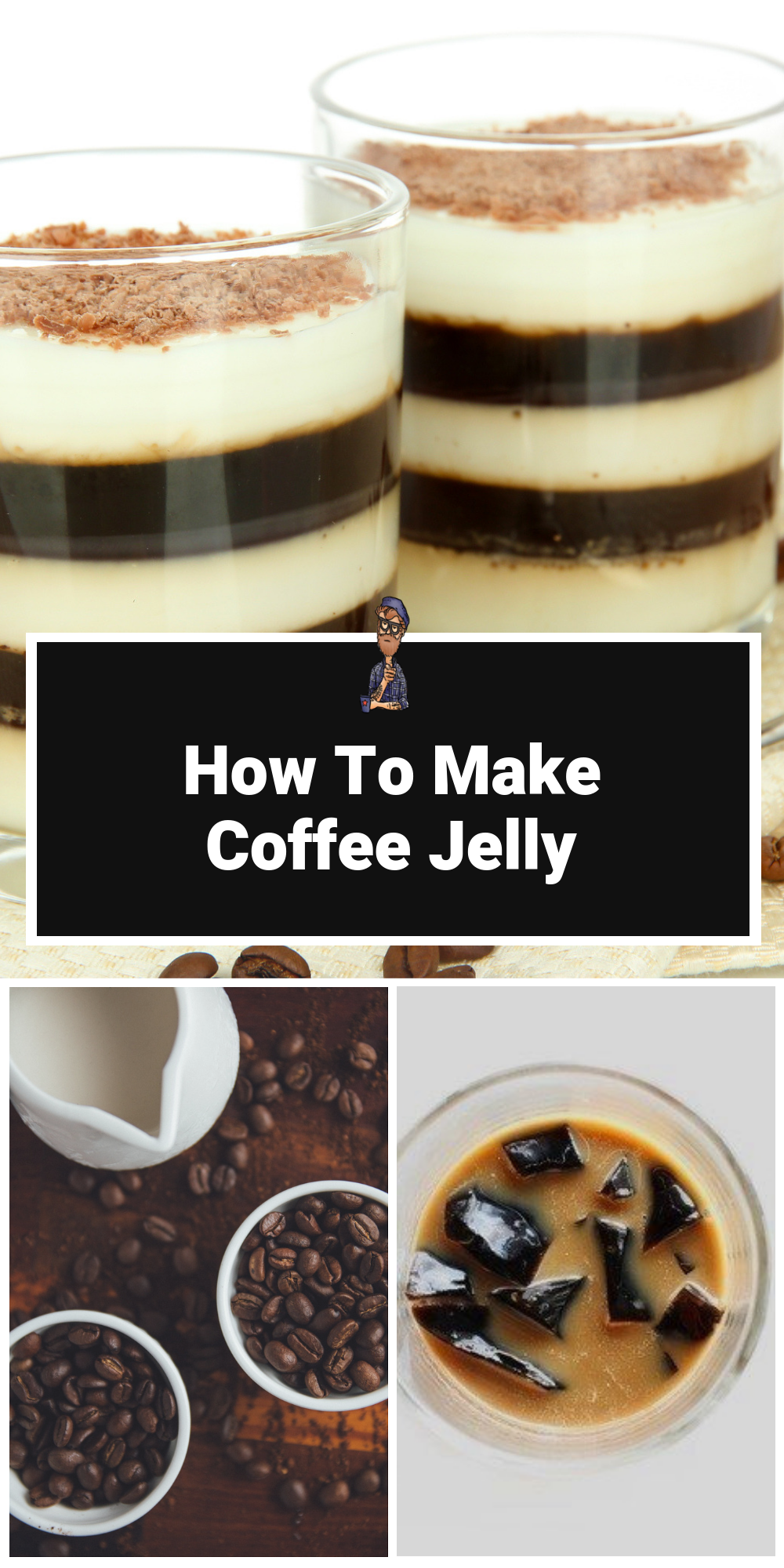 Coffee Jelly Recipe Jelly recipes, Coffee jelly