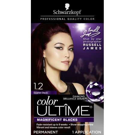 12a02fdbbad739 Schwarzkopf Color Ultime Permanent Hair Color Cream, 1.2 Scarlet ...