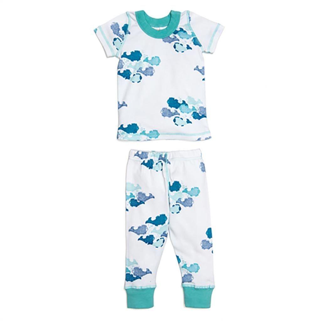 Organic Kids PJs Long Sleeve Sumba Turquoise  8865eaeb0