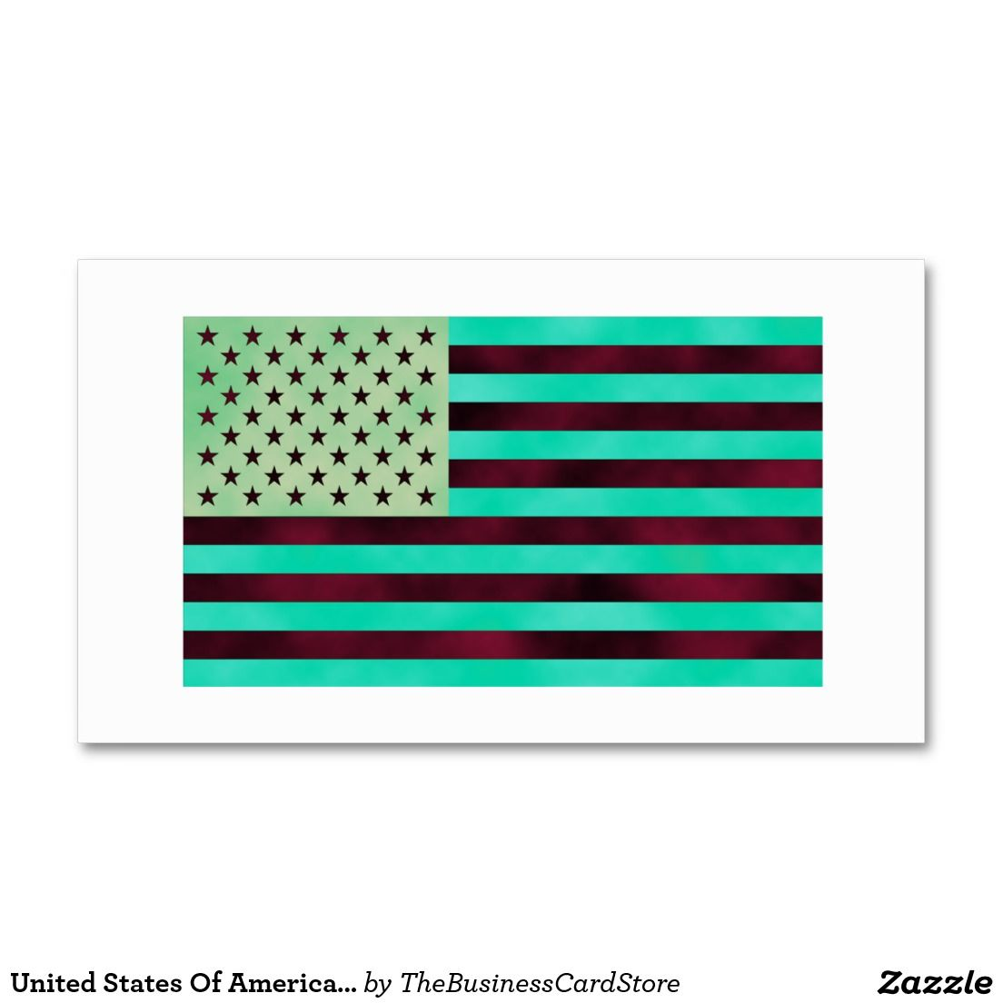 United States Of America Flag Color Change Style Double-Sided ...