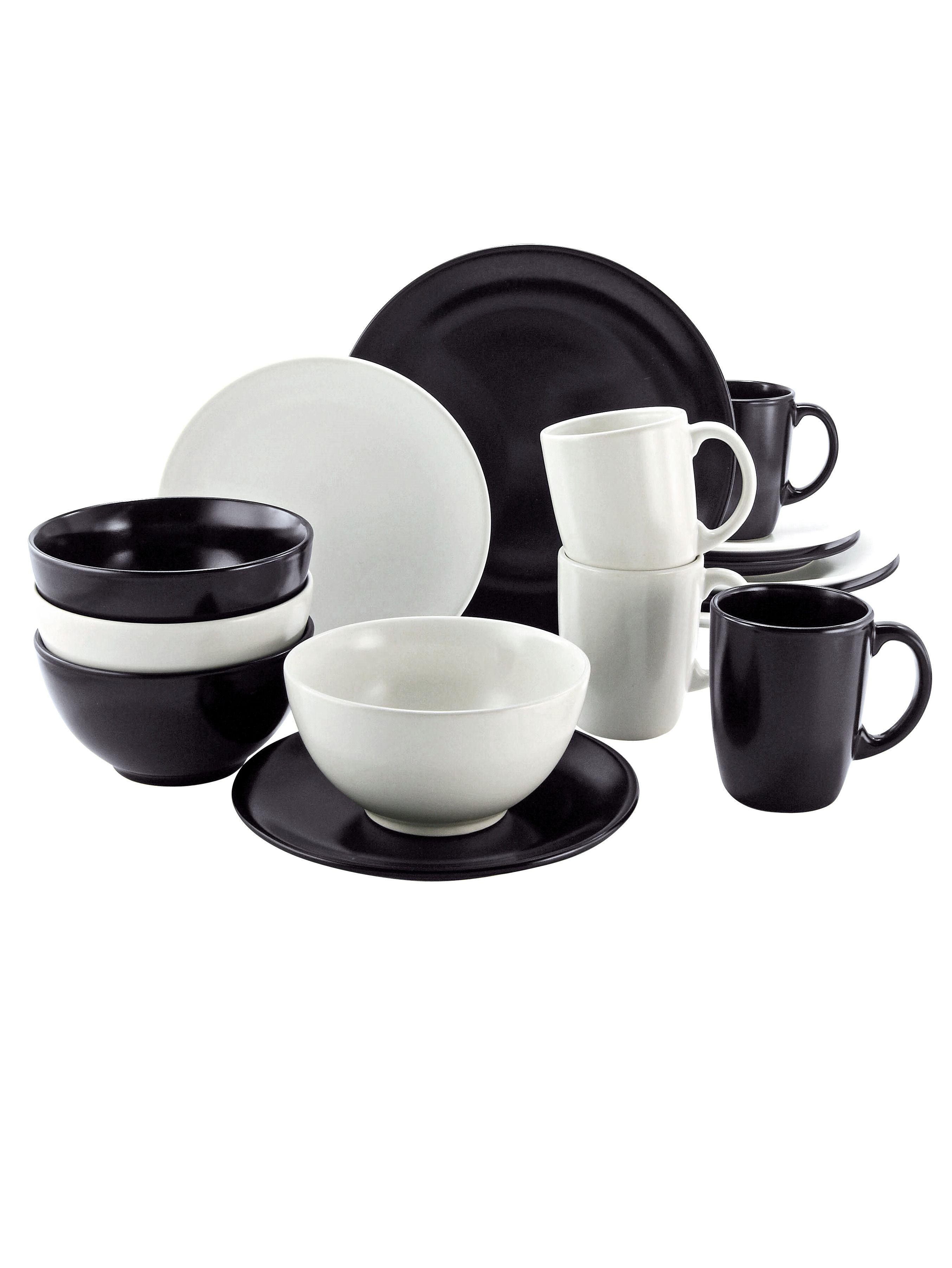 Geschirrset Black & White Jetzt bestellen unter: https://moebel ...