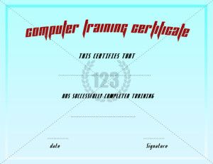 Training Certificate Template  Certificate Templates