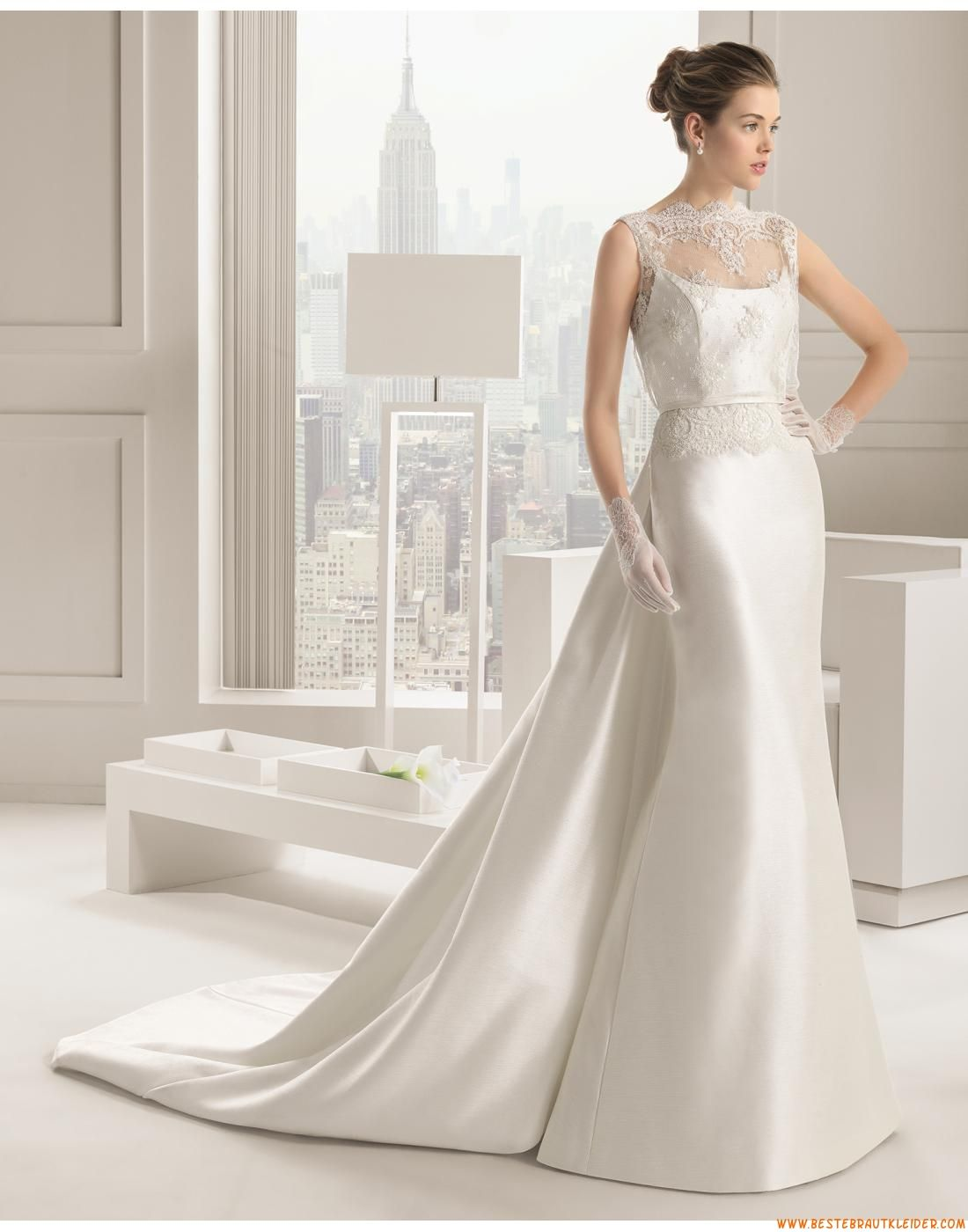 12 Meerjungfrau Exklusive Schlichte Brautkleider aus Taft mit