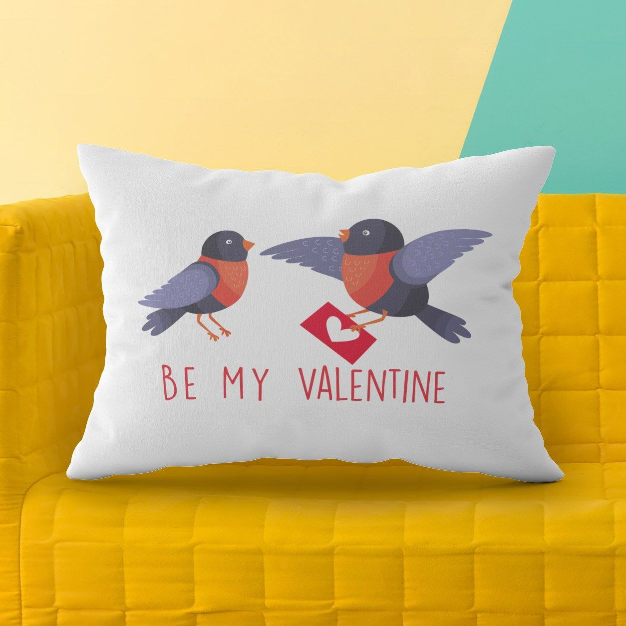 Be my Valentine Pillow Cover, Pillow Covers 20x30, Gift Ideas for Girlfriend, Valentine's Day Gift for Boyfriend, Custom Pillow Case