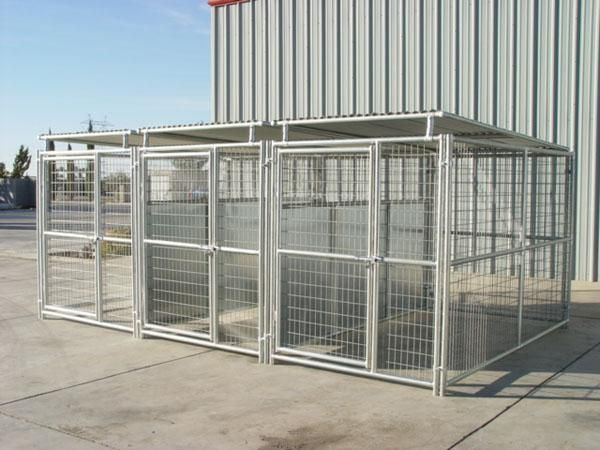 3 Run 5 X10 Dog Kennel W Roof Shelters Fight Guard Dividers Dog Kennel Dog Kennel Designs Dog Kennel Outdoor