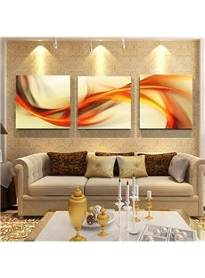 Modern Art Abstract Curve Lines Frameless 3 Panel Wall Art Print 3 Panel Wall Art Cheap Wall Art Online Wall Art