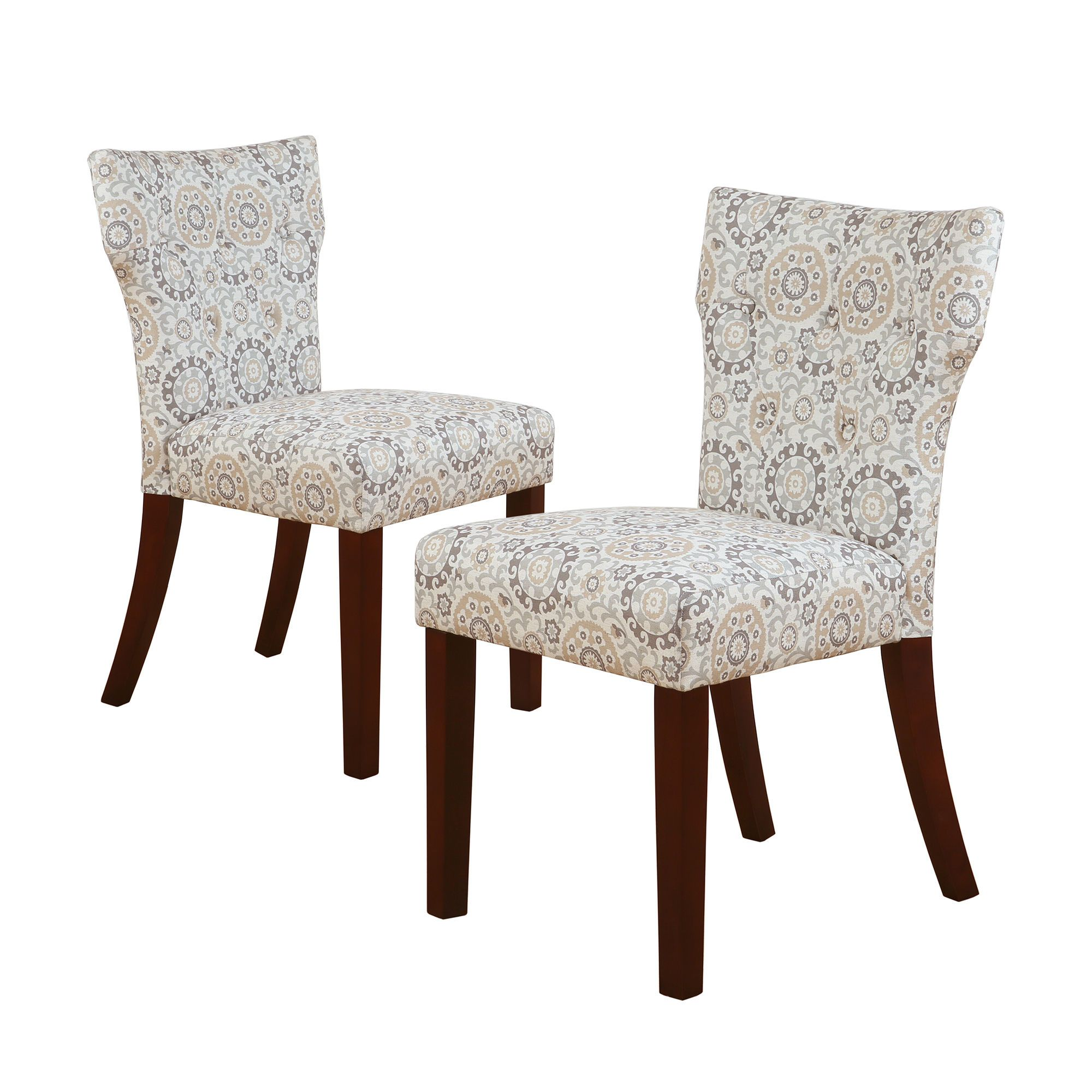 Madison Park Hayes Taupe Tufted Back Dining Chair Set of 2 by