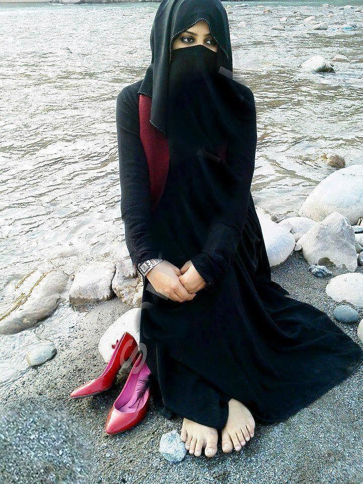 The Muslimah In Black Colour Attire