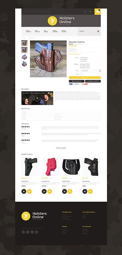 Military website inspirations at your coffee break? Browse for more OpenCart #templates! // Regular price: $89 // Sources available: .PSD, .PNG, .PHP, .TPL, .JS #Military #OpenCart