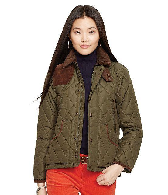 Polo Ralph Lauren Suede-Trim Quilted Jacket | Fall Fashions ... : ralph lauren quilted blazer - Adamdwight.com