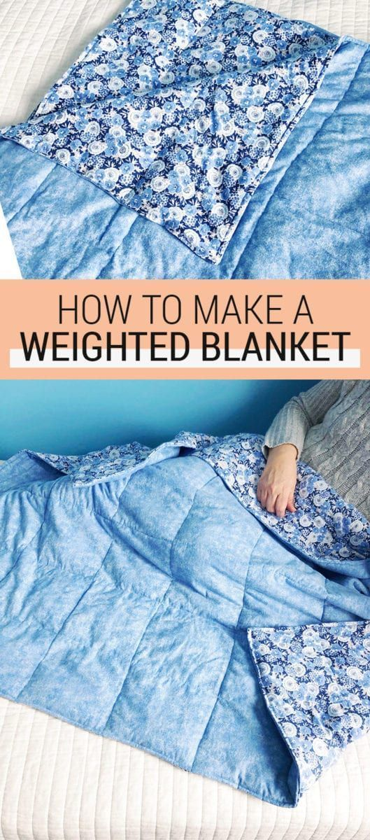How to Make a DIY Weighted Blanket for Anxiety - Learn how to sew a weighted blanket for children or a weighted blanket for adults with this relatively easy tutorial. This sewing tutorial is perfect for calming and soothing!