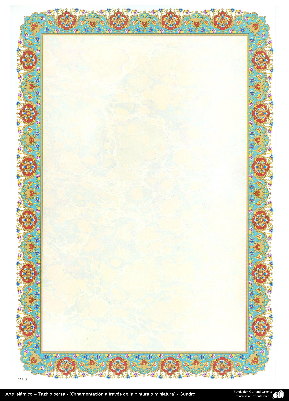 Arte islámico – Tazhib persa - cuadro 62 | Galería de Arte Islámico ...