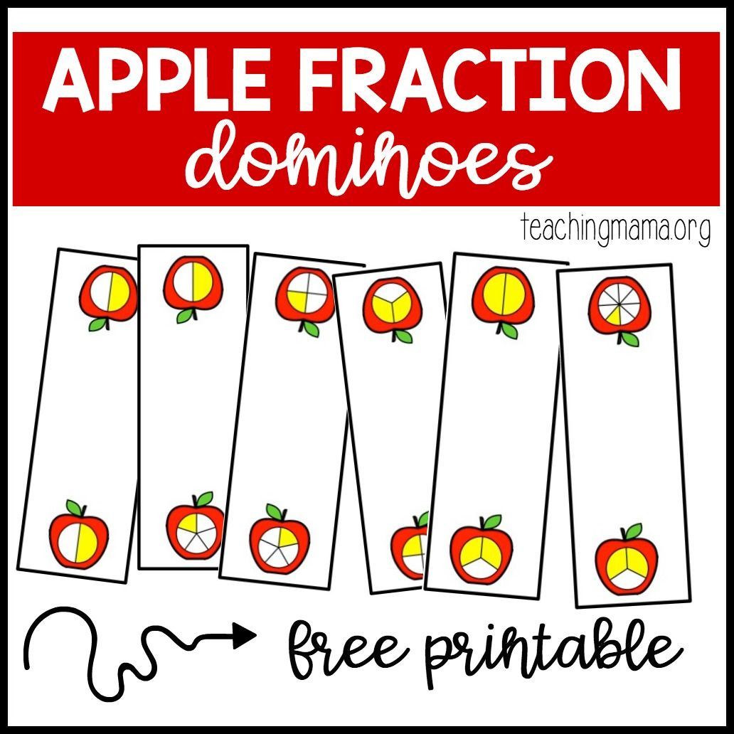 Apple Fraction Dominoes