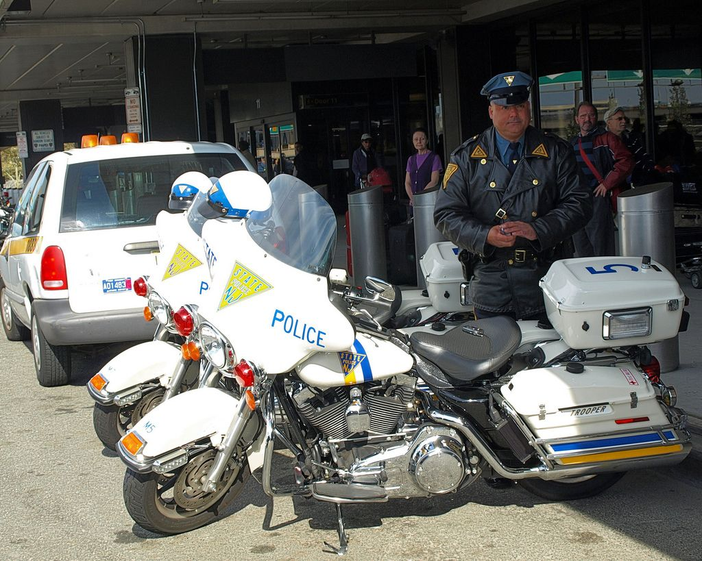 New Jersey State Trooper With Police Motorcycles Newark Liberty Airport Police Police Patrol Army Police