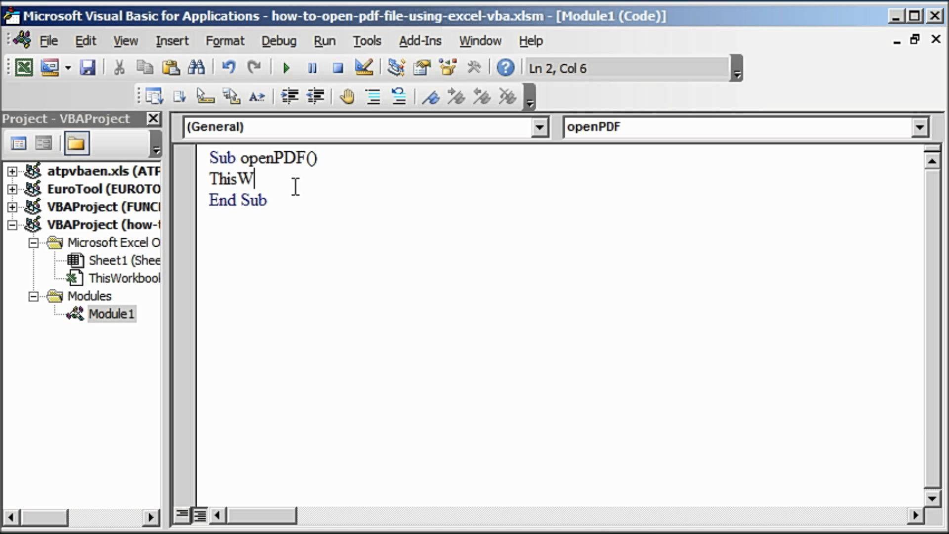 Open PDF File Using Excel VBA Excel, Coding, Pdf