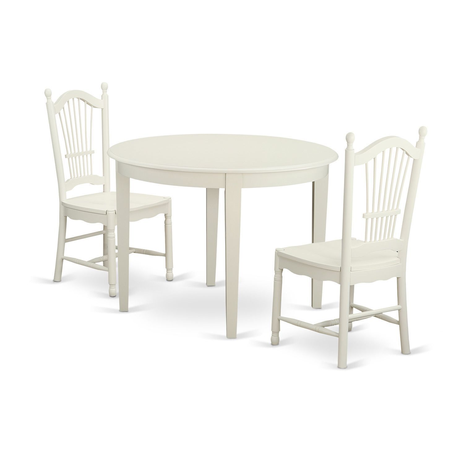 White Kitchen Corner Nook Set Breakfast Table Bench 3 Pc: 3-piece Kitchen Nook Dining Set With Table And 2 Dining