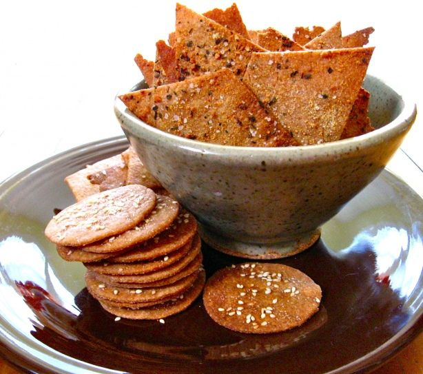 Whole Wheat Crackers   Homemade crackers, Healthy breakfast snacks, Food