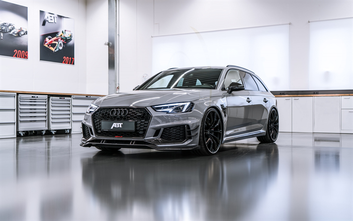 Download Wallpapers Audi RS ABT Black Wheels Tuning RS - Audi rs6 2018