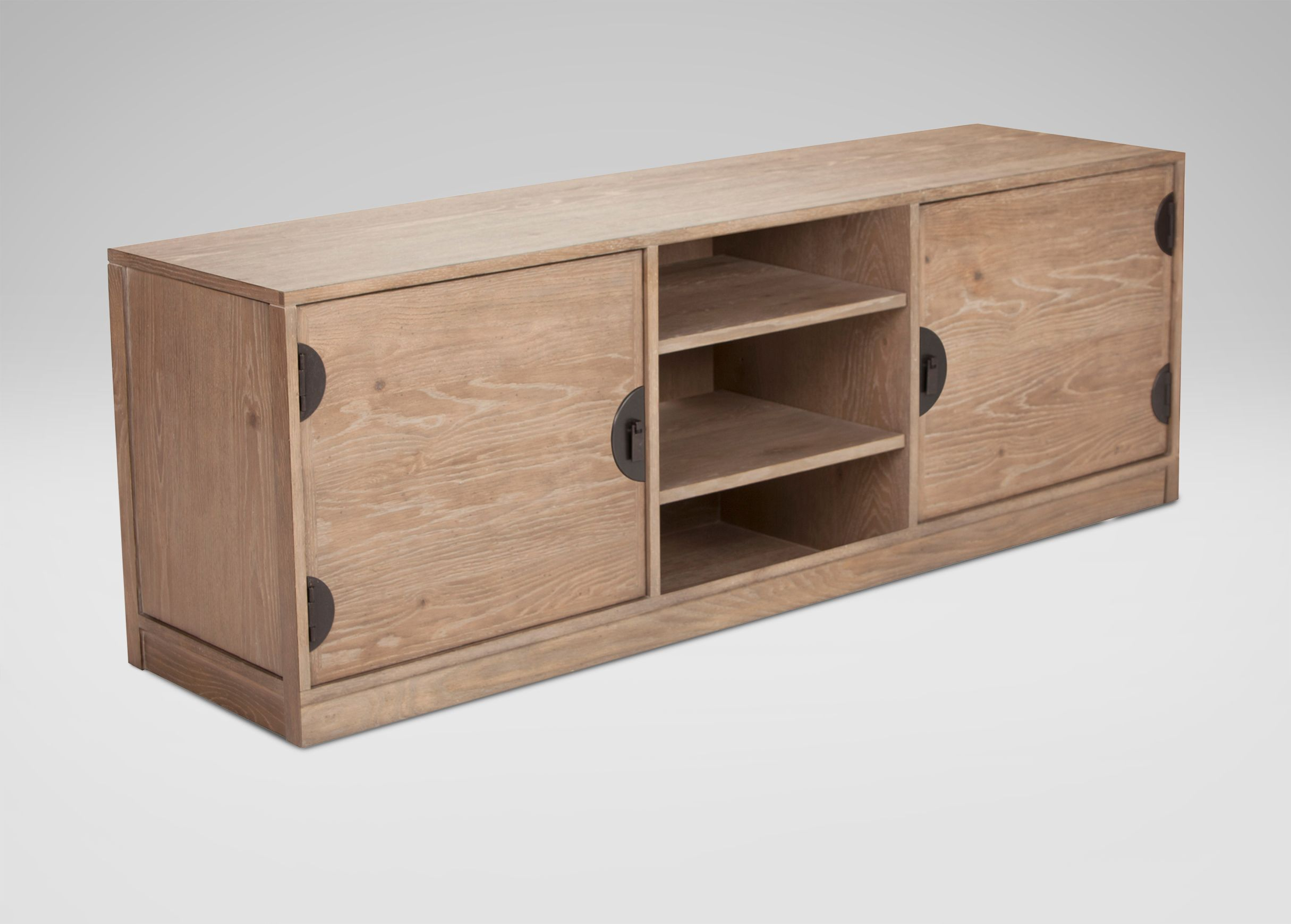 Parry small media cabinet biscuit highland oaks