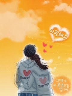 Cartoon Korean Couple In 2020 Korean Anime Cute Cartoon Couples