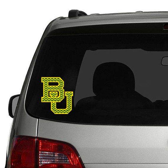 Baylor University Chevron Decal Sticker For Your Car Window By - College custom vinyl decals for car windows